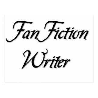 Auteur de fiction de fan carte postale