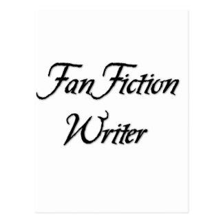 Auteur de fiction de fan cartes postales