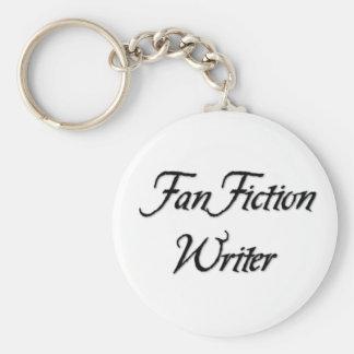 Auteur de fiction de fan porte-clé rond
