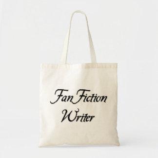 Auteur de fiction de fan sac en toile budget