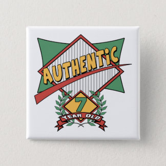 Authentic 7th Birthday Gifts 2 Inch Square Button