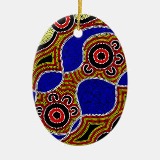 Authentic Aboriginal Art Ceramic Ornament