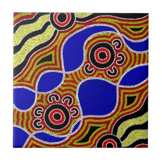 Authentic Aboriginal Art Ceramic Tile