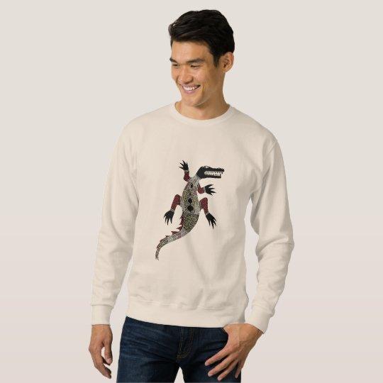 Authentic Aboriginal Art - Crocodile Sweatshirt