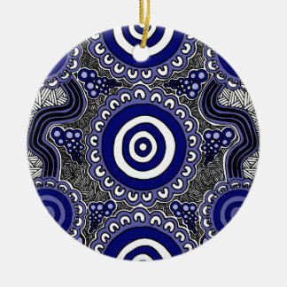 Authentic Aboriginal Art - Gathering Ceramic Ornament