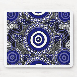 Authentic Aboriginal Art - Gathering Mouse Pad