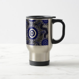 Authentic Aboriginal Art - Gathering Travel Mug