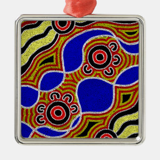Authentic Aboriginal Art Metal Ornament