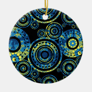 Authentic Aboriginal Art - Paisley Design Ceramic Ornament