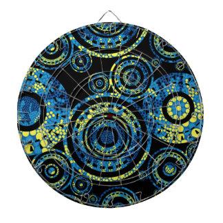 Authentic Aboriginal Art - Paisley Design Dartboard