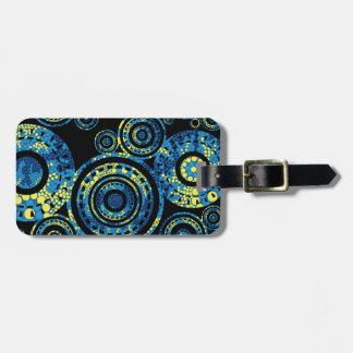 Authentic Aboriginal Art - Paisley Design Luggage Tag