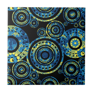 Authentic Aboriginal Art - Paisley Design Tile