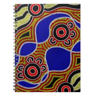 Authentic Aboriginal Art Spiral Notebook