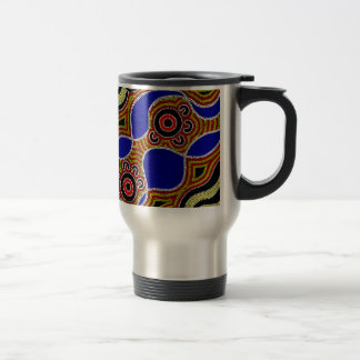 Authentic Aboriginal Art Travel Mug