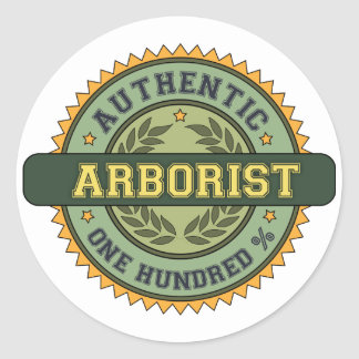 Authentic Arborist Round Sticker