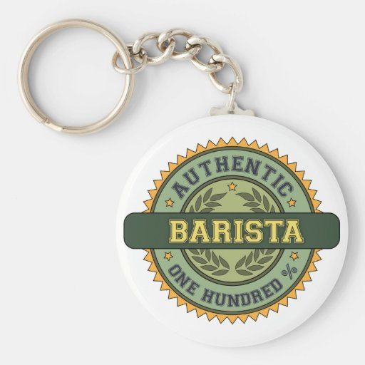 Authentic Barista Key Chain