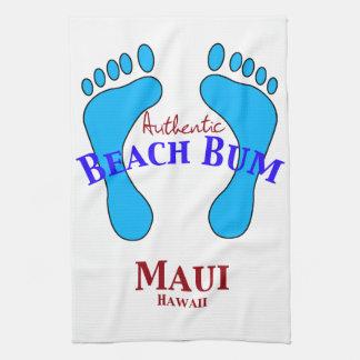 Authentic Beach Bum Maui Hawaii Kitchen Towel