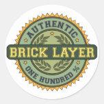 Authentic Brick Layer Round Stickers