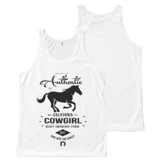 Authentic California Cowgirl All-Over-Print Tank Top