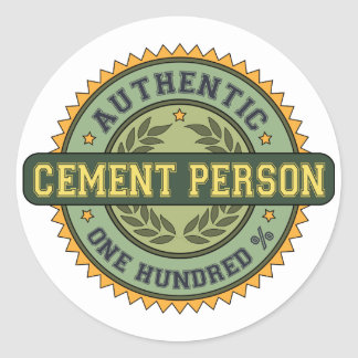 Authentic Cement Person Round Sticker
