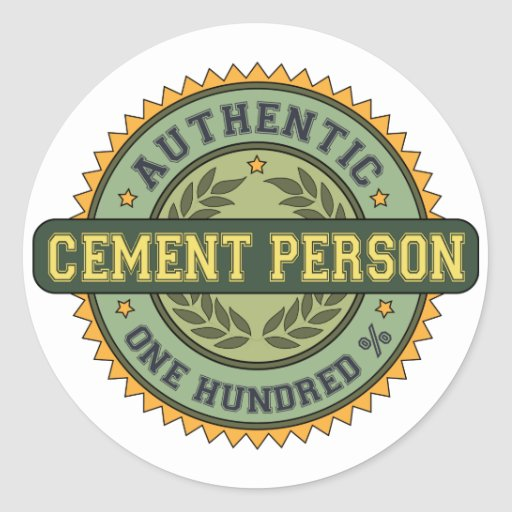 Authentic Cement Person Stickers