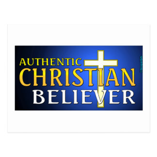 Authentic Christian believer gift design Postcard