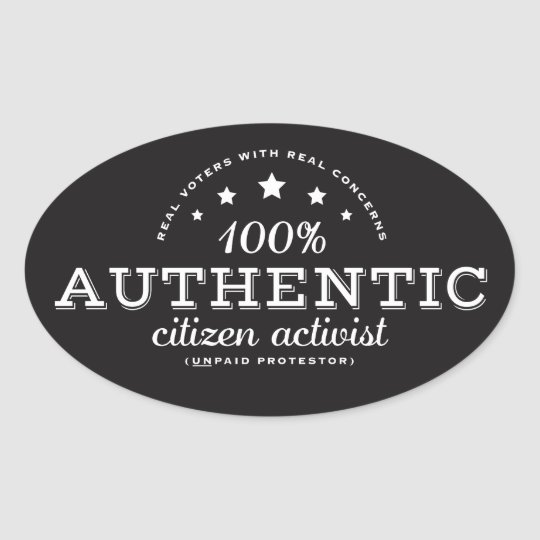 Authentic Citizen Activist Sticker