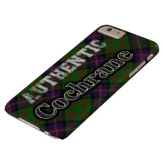 Authentic Clan Cochrane Scottish Tartan Design Barely There iPhone 6 Plus Case