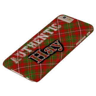 Authentic Clan Hay Scottish Tartan Design Barely There iPhone 6 Plus Case