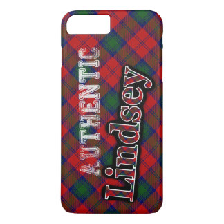 Authentic Clan Lindsey Scottish Tartan Design iPhone 7 Plus Case