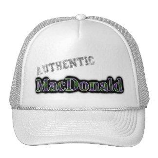 Authentic Clan MacDonald Scottish Tartan Name Trucker Hat