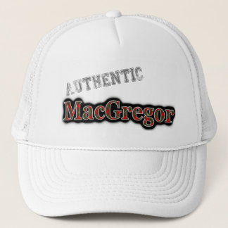 Authentic Clan MacGregor Scottish Tartan Name Trucker Hat