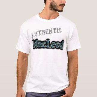 Authentic Clan MacLeod Tartan Name Design T-Shirt