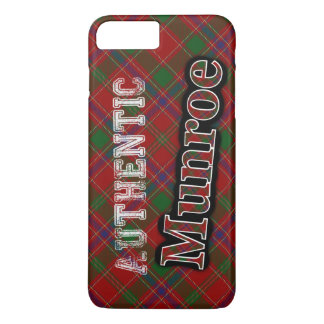 Authentic Clan Munroe Scottish Tartan Design iPhone 7 Plus Case
