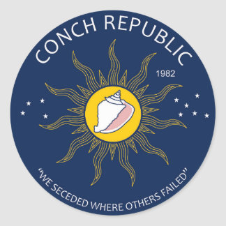 Authentic Conch Republic AVOID FAKES Round Sticker