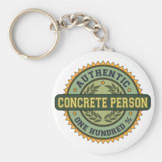 Authentic Concrete Person Basic Round Button Keychain