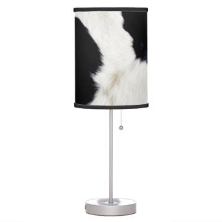 Authentic Cow Fur Animal Print Table Lamp