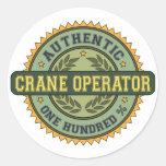 Authentic Crane Operator Classic Round Sticker