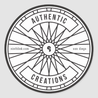 Authentic Creations Round Sticker