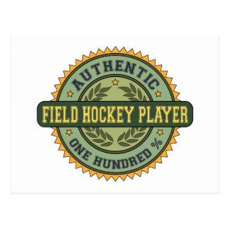 Authentic Field Hockey Player Postcard