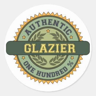 Authentic Glazier Classic Round Sticker