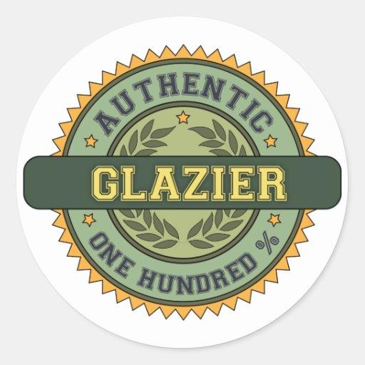 Authentic Glazier Round Sticker