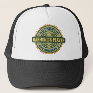 Authentic Harmonica Player Trucker Hat