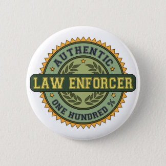 Authentic Law Enforcer 2 Inch Round Button