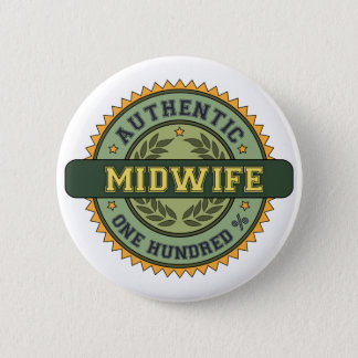 Authentic Midwife 2 Inch Round Button