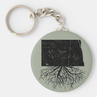 Authentic North Dakota Roots Keychain