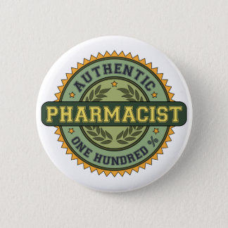 Authentic Pharmacist 2 Inch Round Button