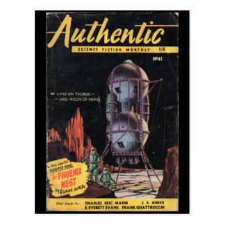 Authentic Science Fiction Monthly _January 1954_Pu Postcard