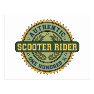 Authentic Scooter Rider Postcard