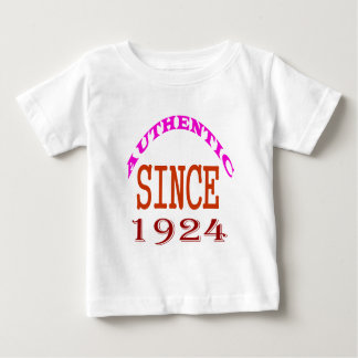 Authentic Since 1924 Birthday Designs Baby T-Shirt
